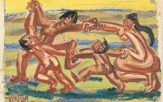 «Οικογένεια που χορεύει όλη μαζί», έργο του μεγάλου Κορεάτη ζωγράφου Λι Γιουνγκ Σεόμπ (1916-1956).