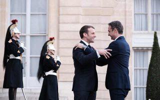 Η πλέον κρίσιμη εξέλιξη στη διπλωματική σκακιέρα είναι η έλευση των αλλικών δυνάμεων, η οποία «κλείδωσε» κατά την τηλεφωνική επικοινωνία του πρωθυπουργού με τον Γάλλο πρόεδρο Εμανουέλ Μακρόν την Τετάρτη το βράδυ (φωτ. από την επίσκεψη του κ. Μητσοτάκη στο Παρίσι τον περασμένο Ιανουάριο). Φωτ. ΙΝΤΙΜΕ ΝΕWS