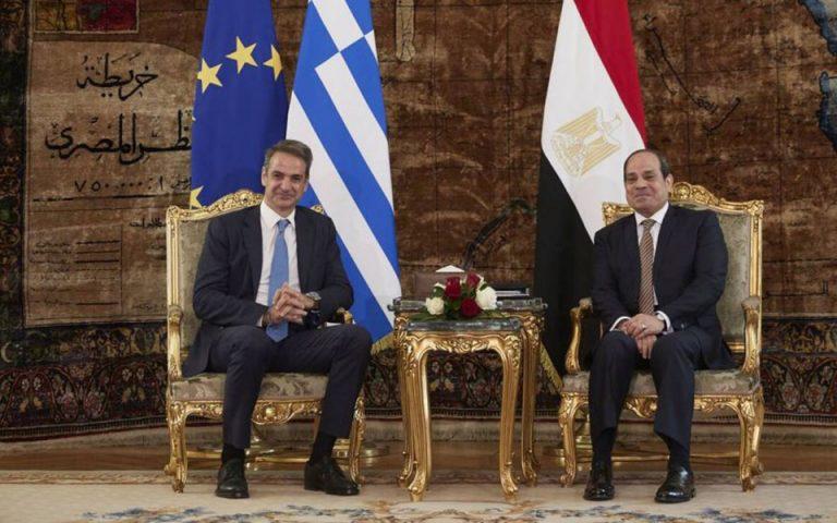 Κάιρο: «Ιστορική εξέλιξη των διμερών σχέσεων Ελλάδας-Αιγύπτου η συμφωνία»