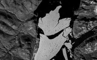 Δορυφορική φωτογραφία του κομματιού πάγου που αποκόπηκε. (Πηγή: BBC)