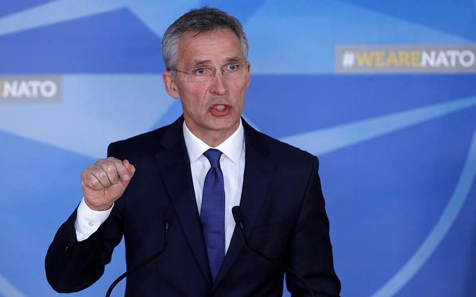 Ο γενικός γραμματέας του ΝΑΤΟ Γενς Στόλτενμπεργκ.