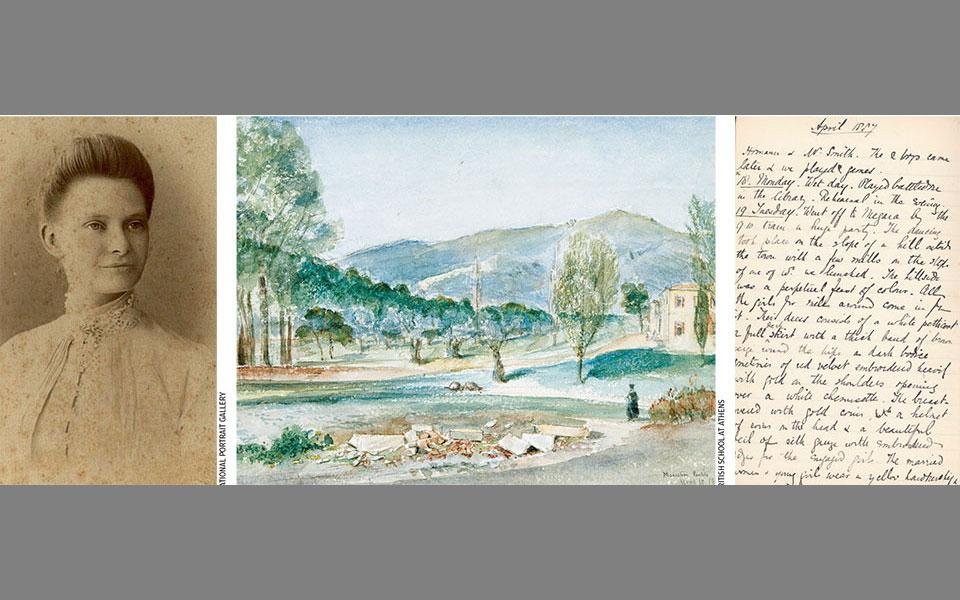Η Εμιλυ Πένροουζ (1858-1942) έζησε στην Αθήνα την περίοδο 1886-87, όταν ο πατέρας της ήταν ο πρώτος διευθυντής της Βρετανικής Σχολής Αθηνών (φωτ. NATIONAL PORTRAIT GALLERY και BRITISH SCHOOL AT ATHENS).