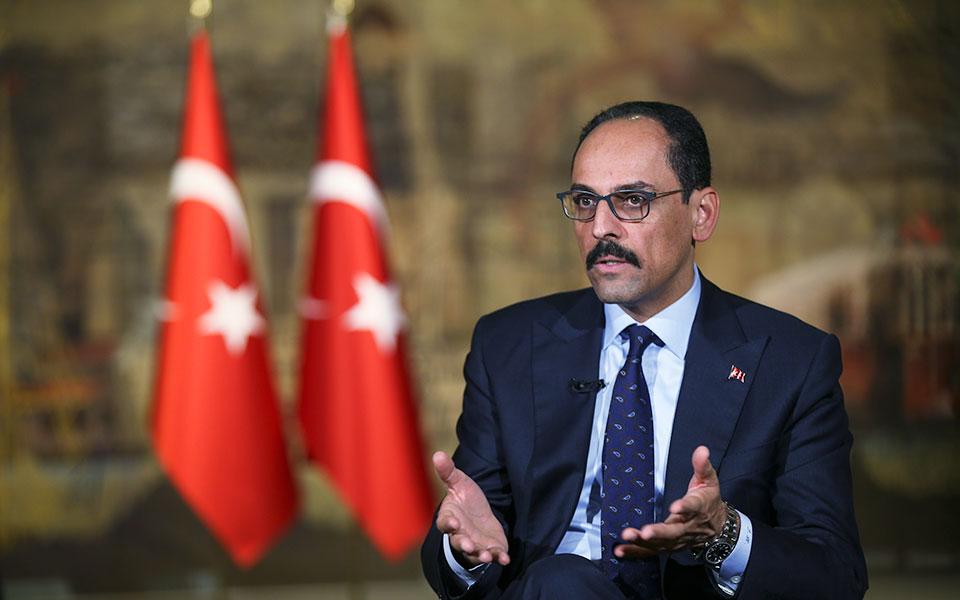 O εκπρόσωπος και εκ των στενών συνεργατών του Τούρκου προέδρου Ρετζέπ Ταγίπ Ερντογάν, Ιμπραήμ Καλίν (φωτ. A.P.).