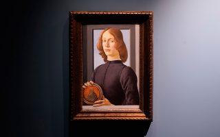 Το έργο, που θα εκπλειστηριασθεί τον ερχόμενο Ιανουάριο στη Νέα Υόρκη, φιλοτέχνησε ο Φλωρεντινός ζωγράφος πριν από 550 χρόνια (φωτ. AP Photo/Seth Wenig).