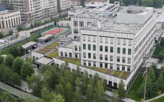 Η πρεσβεία των Ηνωμένων Πολιτειών στο Κίεβο. (Φωτ. REUTERS/VALENTYN OGIRENKO)