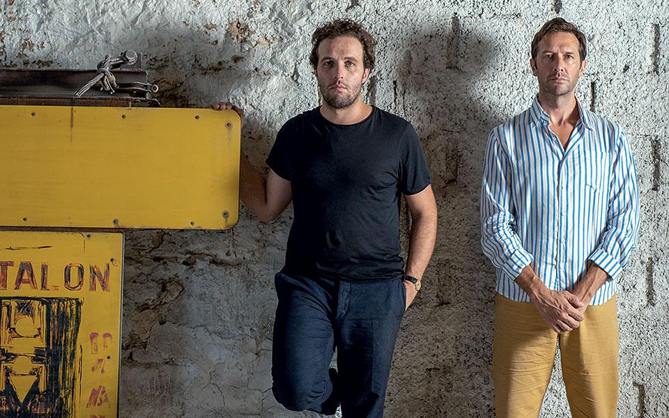 Ο Quentin Moyse και ο Nicolas Bellavance-Lecompte, οι ιδιοκτήτες της γκαλερί Carwan. © Άγγελος Γιωτόπουλος