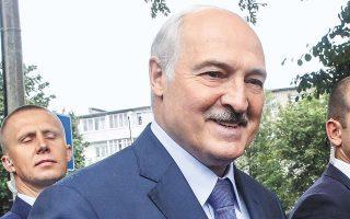 O Λευκορώσος πρόεδρος Αλ. Λουκασένκο την Τρίτη στο Μπαρανόβιτσι, 150 χλμ. νοτιοδυτικά του Μινσκ.