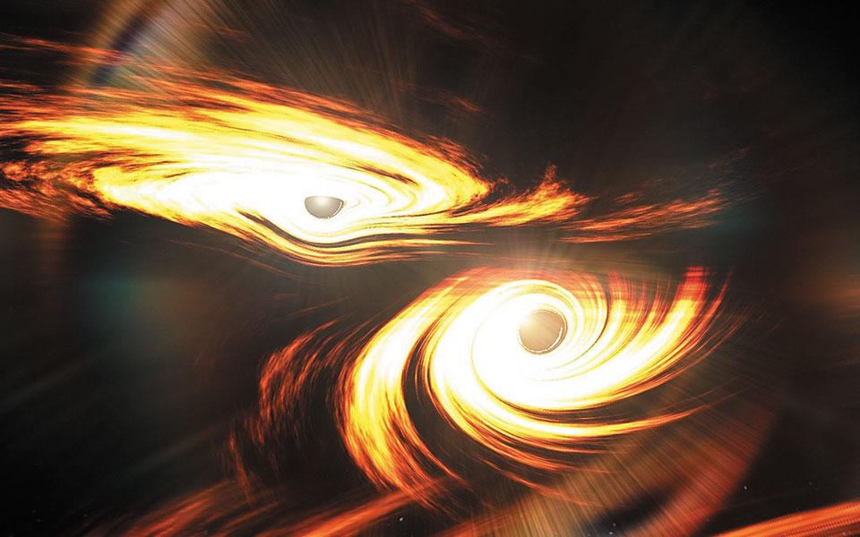 Οι ανιχνευτές βαρυτικών κυμάτων «Ligo» και «Virgo», σε ΗΠΑ και Ευρώπη αντίστοιχα, τον Μάιο του 2019 εντόπισαν τη σύγκρουση και συγχώνευση δύο μαύρων τρυπών, των πιο μακρινών και με τη μεγαλύτερη μάζα που έχουν ανακαλυφθεί μέχρι σήμερα μέσω βαρυτικών κυμάτων.