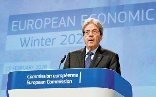 Μιλώντας χθες στο Brussels Economic Forum, ο επίτροπος Οικονομικών Υποθέσεων της Ενωσης Πάολο Τζεντιλόνι τόνισε ότι «πρέπει να αποφύγουμε την πρόωρη σύσφιγξη της δημοσιονομικής πολιτικής» και ότι το 2021 πρέπει να διατηρηθεί ο επεκτατικός της χαρακτήρας.