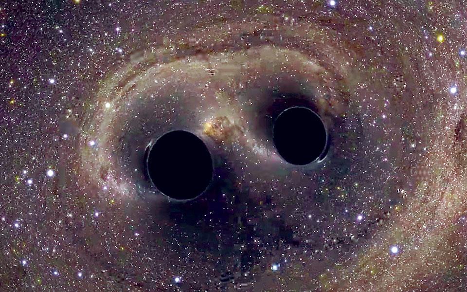 Στις αρχές του μήνα ανακοινώθηκε ο εντοπισμός βαρυτικών κυμάτων από τη συγχώνευση ενός ασυνήθιστου ζεύγους μαύρων τρυπών, που είχαν μάζα 66 και 85 φορές τη μάζα του Ηλιου. (Φωτ. NASA)