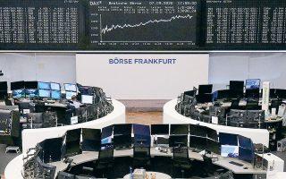 Οι δείκτες Xetra DAX της Φρανκφούρτης (φωτ.) και FTSE 100 του Λονδίνου έκλεισαν με κέρδη 2,01% και 2,39% αντιστοίχως.