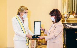 Το παράσημο επέδωσε η Πρόεδρος της Δημοκρατίας (φωτ. PANOULIS PHOTOGRAPHY).