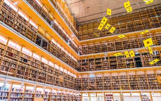 Σε περίπου εκατό άτομα ανέρχεται το προσωπικό της Εθνικής Βιβλιοθήκης της Ελλάδος, τη στιγμή που ομόλογοι φορείς ευρωπαϊκών χωρών ανάλογου μεγέθους απασχολούν κατά μέσον όρο 450 εργαζομένους (φωτ. shutterstock).