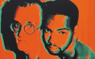 Πορτρέτο του Κιθ Χέρινγκ και του Χουάν Ντιμποσέ, διά χειρός Αντι Γουόρχολ.