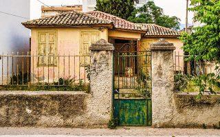 Το σπίτι στην οδό Αδειμάντου στην Κόρινθο. Κατάλοιπο εποχής.