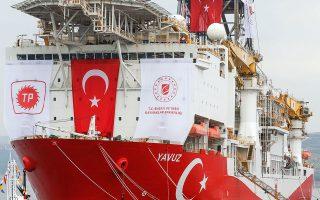 Παρά την προφανή προσπάθεια επανεκκίνησης της διπλωματίας, σημειώνονται πρωτοβουλίες της Αγκυρας που υποδηλώνουν ότι η τουρκική πλευρά επιμένει στη διατήρηση της έντασης. Χθες ανανεώθηκαν οι γεωτρήσεις του «Γιαβούζ» έως τις 12 Οκτωβρίου εντός της κυπριακής υφαλοκρηπίδας (φωτ. Α.Ρ.).