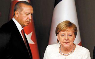 Ο Ρετζέπ Ταγίπ Ερντογάν δήλωσε στην Αγκελα Μέρκελ αποφασισμένος να συνεχίσει να εφαρμόζει μια αποφασιστική πολιτική σε ό,τι αφορά τα δικαιώματα της Τουρκίας στην Ανατολική Μεσόγειο (φωτ. αρχείου).