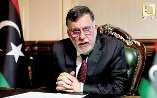 H Αγκυρα θα εξακολουθήσει να υποστηρίζει την κυβέρνηση της Τρίπολης, παρά την ανακοίνωση του Φαγέζ Σαράζ ότι σκοπεύει να παραιτηθεί (φωτ. REUTERS).