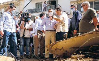 Από την Καρδίτσα, ο πρόεδρος του ΣΥΡΙΖΑ Αλέξης Τσίπρας χαρακτήρισε ανεπαρκή τα μέτρα της κυβέρνησης (φωτ. Γ.Τ. ΣΥΡΙΖΑ / ANDREA BONETTI).