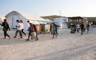 Στο νέο ΚΥΤ στην περιοχή του Καρά Τεπέ έχουν μεταφερθεί πάνω από 9.000 πρόσφυγες και μετανάστες (φωτ. INTIME NEWS).
