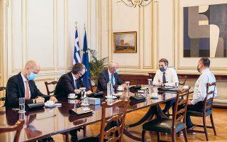 O πρωθυπουργός Κυριάκος Μητσοτάκης συναντήθηκε χθες με τον πρόεδρο της μητρικής Fraport AG, Stefan Schulte, τον CEO της Fraport Greece, Alexander Zinell, και τον αντιπρόεδρο του Δ.Σ. της εταιρείας, Χρήστο Κοπελούζο, παρουσία του υπουργού Επικρατείας Γιώργου Γεραπετρίτη, ο οποίος χειρίστηκε το ζήτημα.