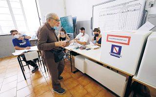 Το συμπέρασμα των περιφερειακών εκλογών είναι ότι η συμμαχία του Κινήματος 5 Αστέρων, από το οποίο προέρχεται ο πρωθυπουργός Τζουζέπε Κόντε, και του Δημοκρατικού Κόμματος αντέχει. (Φωτ. REUTERS / Ciro De Luca