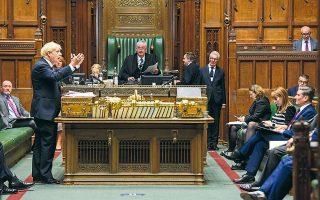 O Βρετανός πρωθυπουργός Μπόρις Τζόνσον σε πρόσφατη ομιλία του στη Βουλή των Κοινοτήτων v(φωτ. REUTERS).