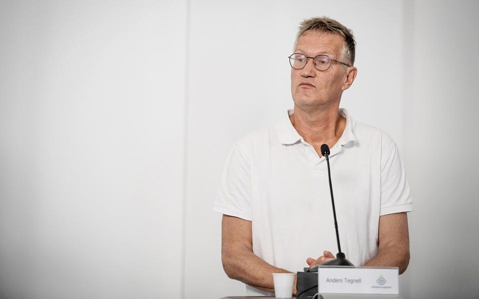 Ο επικεφαλής σύμβουλος της σουηδικής κυβέρνησης για τον κορωνοϊό, Αντερς Τέγκνελ. (Φωτ.:ΕΡΑ)