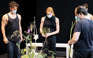 Ο Μιχάλης Σαράντης και η Στεφανία Γουλιώτη στην πρόβα της «Φαίδρας» στο θέατρο «Προσκήνιο». (Φωτ. ΚΩΝΣΤΑΝΤΙΝΟΣ ΓΕΩΡΓΟΠΟΥΛΟΣ)