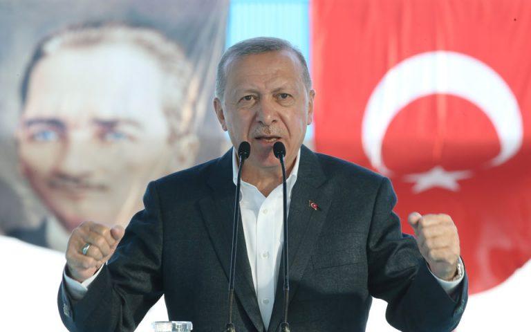 Συντηρεί τους υψηλούς τόνους ο Ερντογάν: «Δεν θα δεχθούμε πατρονάρισμα»