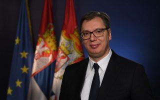Ο Σέρβος πρόεδρος Αλεξάνταρ Βούτσιτς είπε ότι η συμφωνία είναι αποκλειστικά οικονομικής φύσης. (Φωτ.: Σερβική προεδρία)