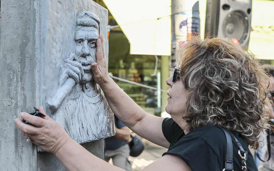 H μητέρα του δολοφονημένου Παύλου Φύσσα, Μάγδα, τραγική φιγούρα της δίκης, δεν έλειψε ούτε μία ημέρα από τη θέση της. Φωτ. ΙΝΤΙΜΕ ΝΕWS