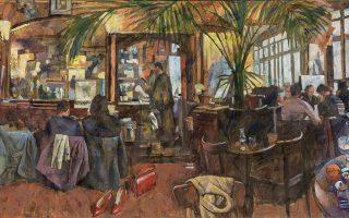 Μια νέα ενότητα έργων στο αγαπημένο του θέμα των καφενείων παρουσιάζει ο Παύλος Σάμιος στην γκαλερί Σκουφά, με τίτλο «Καφέ Παράδεισος», από τις 17 Σεπτεμβρίου. Σκουφά 4, Κολωνάκι.