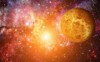 Οι ενδείξεις για ενδεχόμενη ύπαρξη έμβιων μικροοργανισμών στην εξαιρετικά αφιλόξενη Αφροδίτη έγκειται στον εντοπισμό ενός αερίου με την ονομασία φωσφίνη στην ατμόσφαιρα του πλανήτη. (Φωτ. SHUTTERSTOCK)