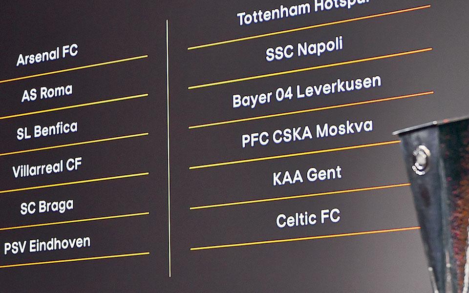 Αϊντχόφεν και Μπράγκα κληρώθηκαν από το γκρουπ των ισχυρών στον όμιλο του ΠΑΟΚ και της ΑΕΚ αντίστοιχα.