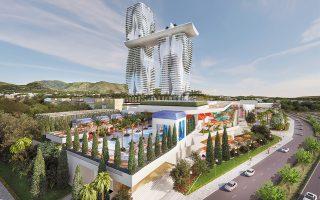Η πρόταση των Mohegan - ΓΕΚ ΤΕΡΝΑ για το ολοκληρωμένο τουριστικό συγκρότημα με καζίνο στο Ελληνικό, υπό τον τίτλο «INSPIRE Athens», περιλαμβάνει ξενοδοχείο πέντε αστέρων, καζίνο, χώρους ψυχαγωγίας, συνεδριακό κέντρο, καταστήματα και εστιατόρια.