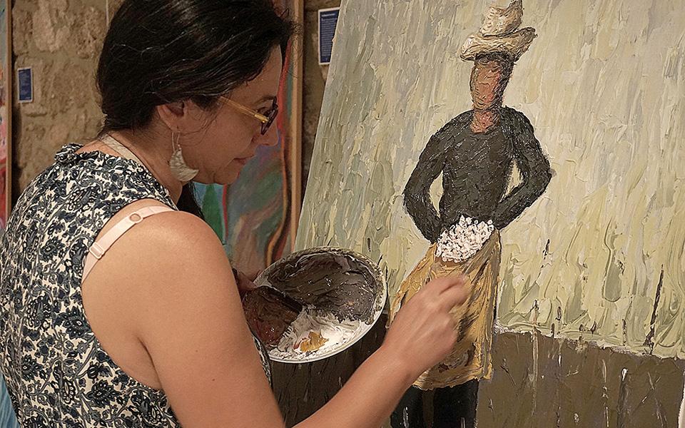 Οι 15 καλλιτέχνες εργάστηκαν στο Εκκοκκιστήριο.