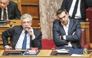 Σύμφωνα με πληροφορίες της «Κ», οι κ. Τσίπρας και Κοντονής συναντήθηκαν τελευταία φορά στο γραφείο του αρχηγού της αξιωματικής αντιπολίτευσης στη Βουλή τη Δευτέρα, εκεί όπου ο πρώην υπουργός ανακοίνωσε την πρόθεσή του να αποχωρήσει από την Κεντρική Επιτροπή (φωτ. αρχείου). (Φωτ. INTIME NEWS)