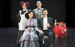 Η φάρσα «Η κυρία του Μαξίμ» του Ζορζ Φεντό, σε μετάφραση και σκηνοθεσία του Θωμά Μοσχόπουλου, ήταν προγραμματισμένη για τον περασμένο Απρίλιο, καθώς όμως αναβλήθηκε για ευνόητους λόγους, επανέρχεται στο Εθνικό Θέατρο από 21 Οκτωβρίου (φωτ. ΠΑΤΡΟΚΛΟΣ ΣΚΑΦΙΔΑΣ).