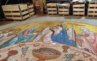 Τα έργα αποκατάστασης των τοιχογραφιών του ναού του Αγίου Σάββα στο Βελιγράδι χρηματοδοτήθηκαν από τη Ρωσία (φωτ. Α.Ρ.).