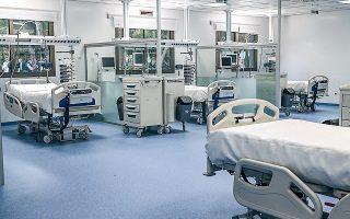 Με τις 50 νέες κλίνες στο νοσοκομείο «Σωτηρία», πλέον τα δημόσια και στρατιωτικά νοσοκομεία της Αττικής διαθέτουν για τις ανάγκες των ασθενών συνολικά 377 κλίνες εντατικής (φωτ. INTIME NEWS).