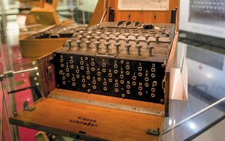 Μια μηχανή Enigma στο Μουσείο Μπλέτσλεϊ Παρκ, στο Μπάκιγχαμσαϊρ (φωτ. Α.Ρ.).