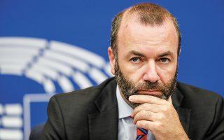 «Υποστηρίζω κάθε θεμιτή αντίδραση, μεταξύ των οποίων η αναστολή της τελωνειακής ένωσης Ε.Ε. - Τουρκίας και νέες κυρώσεις κατά ατόμων», ανέφερε ο κ. Βέμπερ (φωτ. A.P. Photo/Jean-Francois Badias)).