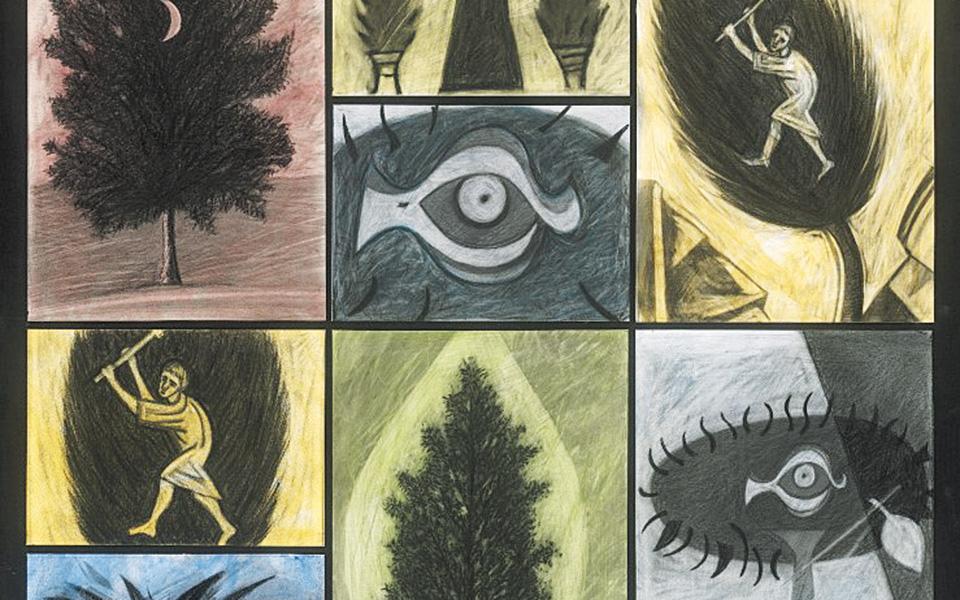 Εργο του Μάρκου Καμπάνη  από τη σειρά «Το Μουσείο των Δέντρων».