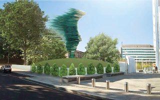 Το έργο του Κ. Βαρώτσου «Ολότητα» άλλαξε θέση, αλλά παραμένει αγαπητό στους κατοίκους του Τορίνο.
