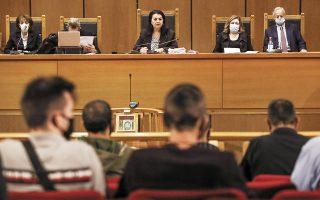 Εκτιμώντας τα αδιάσειστα στοιχεία, ομόφωνα οι δικαστές, προεξάρχουσας της προέδρου Μαρίας Λεπενιώτη (κέντρο), έστειλαν στη φυλακή την πλειονότητα της ηγετικής ομάδας και των επιχειρησιακών στελεχών της Χρυσής Αυγής. (Φωτ. INITIME NEWS)