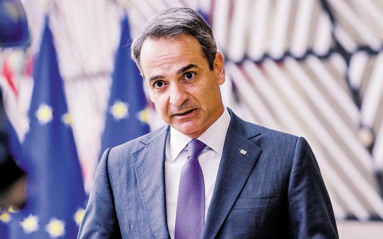 Κατά το τελευταίο Ευρωπαϊκό Συμβούλιο, ο κ. Μητσοτάκης ζήτησε από τα κράτη-μέλη να μην πωλούν πλέον στρατιωτικό υλικό προς την Τουρκία.(Φωτ. Α.Ρ.)