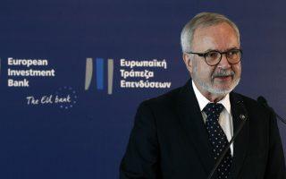 Ο κ. Χόγερ σημειώνει πως η  ΕΤΕπ έχει χρηματοδοτήσει 22 εταιρείες με καινοτόμα προϊόντα σχετικά με την αντιμετώπιση του νέου κορωνοϊού, παρέχοντας συνολικά 700 εκατομμύρια ευρώ - Φωτ: ΑΠΕ-ΜΠΕ