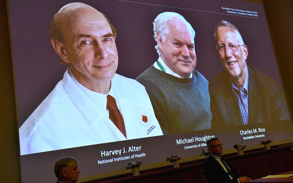 Νόμπελ Ιατρικής: Σε τρεις επιστήμονες για το έργο τους πάνω στην Ηπατίτιδα C  | Η ΚΑΘΗΜΕΡΙΝΗ