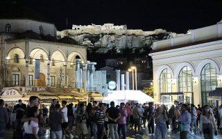 Στιγμιότυπο από το Μοναστηράκι το βράδυ της 3ης Οκτωβρίου. IN TIME